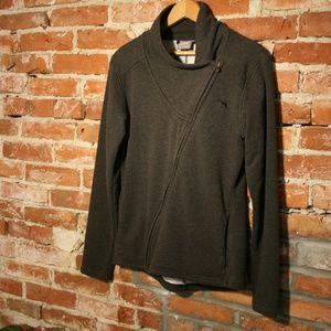 Puma Cotton Asymmetrical Zipper Athletic Jacket